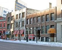 Contextual view, from the southwest, of the Dawson Richardson Building, Winnipeg, 2006; Historic Resources Branch, Manitoba Culture, Heritage and Tourism 2006