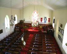View of the nave of St. Andrew's on the Red Anglican Church, Lockport area, 2006; Historic Resources Branch, Manitoba Culture, Heritage and Tourism, 2006