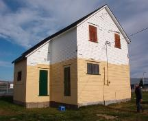 Exterior facade of the old railway station located in Bay Roberts, NL.  Photo taken October 17, 2006, prior to restoration.; HFNL/ Deborah O'Rielly 2007