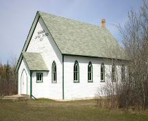 View from the northeast of the Tamarisk United Church, (near Grandview), 2005; Historic Resources Branch, Manitoba Culture, Heritage and Tourism, 2005