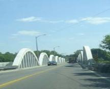 Featured is the north entrance to the Freeport Bridge.; Kayla Jonas, 2007.