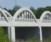 Featured are the concrete spans on the west side of the bridge.; Kayla Jonas, 2007.