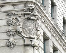 Detail view of the Bank of Hamilton, Winnipeg; Historic Resources Branch, Manitoba Culture, Heritage and Tourism, 2006