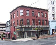 Front elevation, W. M. Brown Building, Halifax, NS, 2007; Heritage Division, NS Dept. of Tourism, Culture and Heritage, 2007