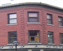 Corner detail, W. M. Brown Building, Halifax, NS, 2007; Heritage Division, NS Dept. of Tourism, Culture and Heritage, 2007