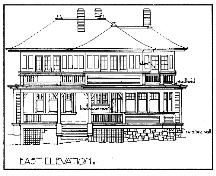 Drawing of east elevation, 1911; Special Collections, McPherson Library, University of Victoria.