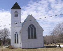 Saint Peter's Anglican Church, Weymouth North, front elevation, 2004; Heritage Division, Nova Scotia Department of Tourism, Culture and Heritage, 2004
