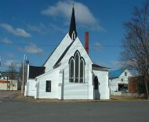 Rear elevation, St. George's Anglican Church, Parrsboro, NS, 2007.; Heritage Division, NS Dept. of Tourism, Culture and Heritage, 2007.
