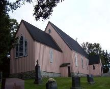Side view, St. Paul's Anglican Church, French Village, NS, 2007; Heritage Division, NS Dept. of Tourism, Culture and Heritage, 2007