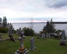 St. Margaret's Bay from graveyard over looking St. Margaret's Bay, St. Paul's Anglican Church, French Village, NS, 2007; Heritage Division, NS Dept. of Tourism, Culture and Heritage, 2007
