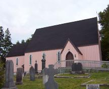 Front elevation, St. Paul's Anglican Church, French Village, NS, 2007; Heritage Division, NS Dept. of Tourism, Culture and Heritage, 2007