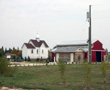 Contextual view, from the southwest, of St. Demetrius Ukrainian Catholic Church, Arborg, 2006; Historic Resources Branch, Manitoba Culture, Heritage and Tourism, 2006