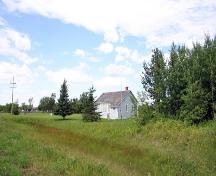 Contextual view, from the southeast, of South Bay School, Winnipegosis area, 2006; Historic Resources Branch, Manitoba Culture, Heritage and Tourism, 2006