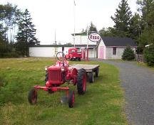 Farm equipment and garage, Memory Lane Heritage Village, Halifax, NS, 2007; Heritage Division, NS Dept. of Tourism, Culture and Heritage, 2007