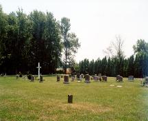 Baptist Cemetery in North Buxton.; Heritage Conservation Program, Joann Latremouille, 2002 / Programme de Conservation du Patrimoniaux, J. Latremouille, 2002