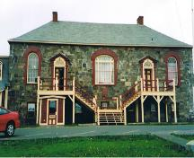 Front elevation of the Harbour Grace Court House, showing the main entrance, 2005.; Parks Canada Agency/ Agence Parcs Canada, Bryan Horton, 2005.