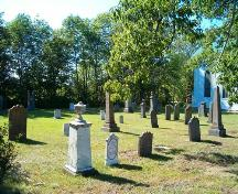 Cemetery, St. Matthew's Presbyterian Church, Wallace, Nova Scotia, 2005. ; Heritage Division, NS Dept. of Tourism, Culture and Heritage, 2005.