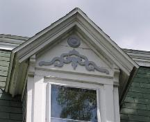 John O'Brien House, dormer detail, 2004; Heritage Division, NS Dept. of Tourism, Culture and Heritage, 2004