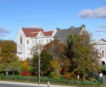 View of St. Bon's College, amongst its other related, ecclesiastical buildings.  Photo taken looking west, October 26, 2007.; Deborah O'Rielly/ HFNL 2007