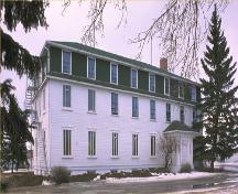 General view of the Old Government House/ Saint-Charles Scholasticate National Historic Site of Canada, showing the building before the fire in 2003, 1989.; Parks Canada Agency / Agence Parcs Canada, 1989.