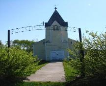 View from the front gate looking toward the bell tower of St. Joseph's Roman Catholic Church, 2007.; Unknown