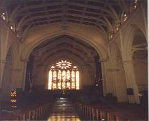 View looking east towards the alter – 1996; OHT – 1996