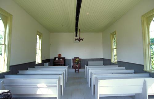 View of the interior of the church – August 2005