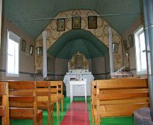 Interior view of the Ruthenian Greek Catholic Church of the Ascension, Rogers area, 2006; Historic Resources Branch, Manitoba Culture, Heritage and Tourism, 2006