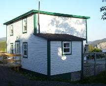 Exterior view of front and side of Jenniex House at The Lookout, Norris Point, NL, June 2006.; Norris Point Heritage Committee, 2006
