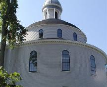 Side elevation of rotunda, St. George's Church, Halifax, Nova Scotia, 2005.; Heritage Division, NS Dept. of Tourism, Culture and Heritage, 2005.