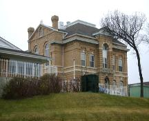 View from the northeast elevation of the Brandon Court House and Jail, 2005; Historic Resources Branch, Manitoba Culture, Heritage, Tourism and Sport, 2005