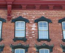 Detailed view showing window heads and cornice – June 2005; OHT, 2005