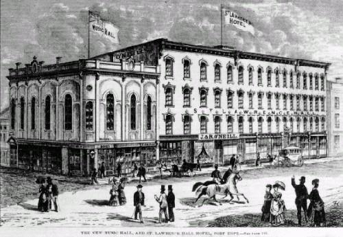 Historic drawing of building – c. 1871