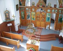 Interior view of Holy Resurrection Russian Orthodox Church, Sifton, 2006; Historic Resources Branch, Manitoba Culture, Heritage and Tourism, 2006