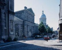 General view of the Bonsecours Market, showing the market on the left.; Parks Canada Agency/ Agence Parcs Canada