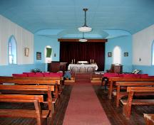 Interior view of Peace Lutheran Church, Chatfield, 2006; Historic Resources Branch, Manitoba Culture, Heritage and Tourism 2006