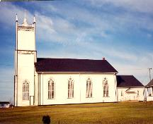 Showing side elevation and gothic windows; St. Augustine's Parish, 2000