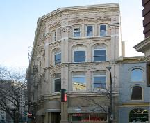 North elevation of the Telegram Building, Winnipeg, 2005; Historic Resources Branch, Manitoba Culture, Heritage and Tourism 2005