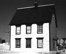 View of front facade, Adam Mouland House, Bonavista. Date unknown.; Heritage Foundation of Newfoundland and Labrador, file # A-017-035, Bonavista - Adam Mouland House