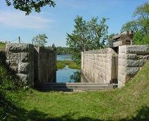 Looking north through Lock 5 into Grand Lake, 2004; Heritage Division, NS Dept. of Tourism, Culture and Heritage
