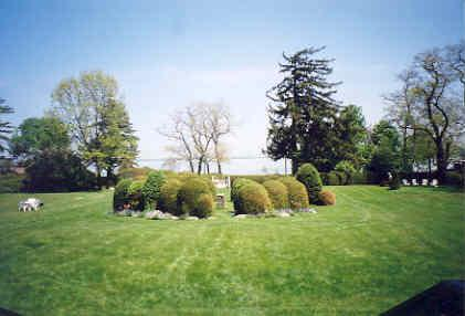View of grounds east of main entrance – June 2003