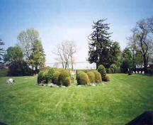 View of the landscaped grounds located east of the manor house main entrance – June 2003; OHT, 2003