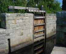 Detail of lock wall and gate of Lock 5, 2004; Heritage Division, NS Dept. of Tourism, Culture and Heritage