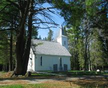 View of the reconstructed church; Province of New Brunswick
