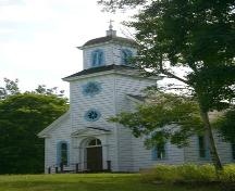 Front elevation, St. Anne's Mission Church, Indian Island, Nova Scotia, 2005.; Javenny Francis 2005.