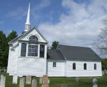 Rear elevation, St. Mary's Anglican Church, Auburn, Nova Scotia, 2007. ; Heritage Division, NS Dept. of Tourism, Culture and Heritage, 2007.