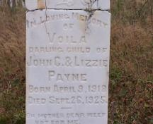 Photo view of headstone, Old Church of England Cemetery, Parsons Pond, NL; Town of Parsons Pond, 2007