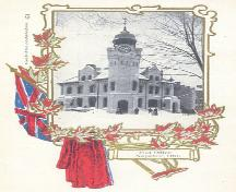 Historic view of the northwest corner of the building as depicted on a postcard – c. 1906; ebay.ca, 2005