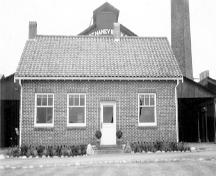 Exterior view from the south of the Port Haney Brick Co. Office, circa 1937; Maple Ridge Museum and Archives, P0048