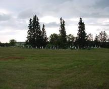 View of cemetery.; Brett Quiring, 2007.
